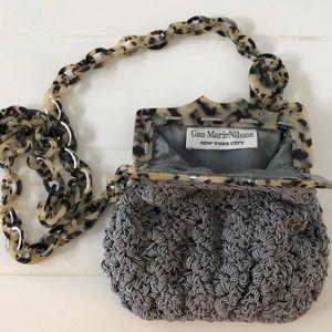 Gorgeous vintage Gun-MarieNilsson grey bag